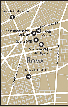 Section 2 of Mexico City Map - Roma