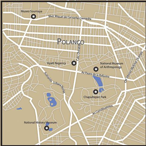 Mexico City Map Section 3 Polanco