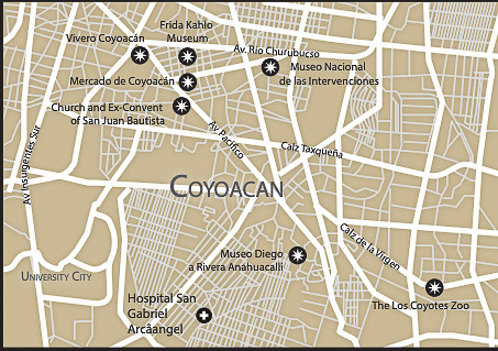 Section 4 of Mexico City Map Coyoacan
