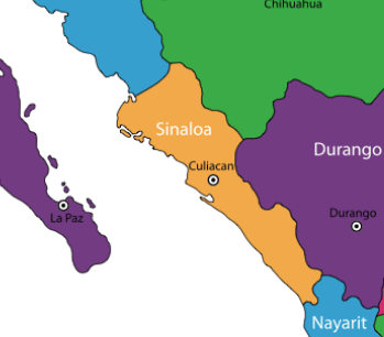 Sinaloa on Map