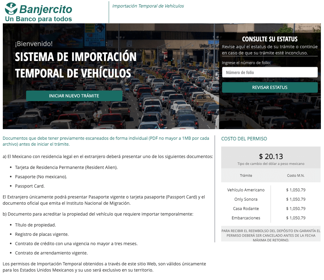 Understanding Mexico Vehicle Permits