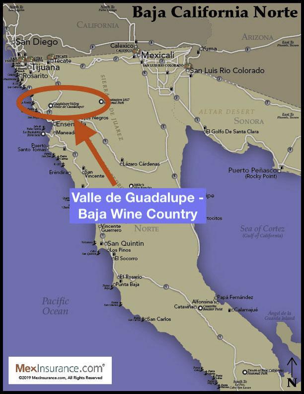 Baja Wine Map