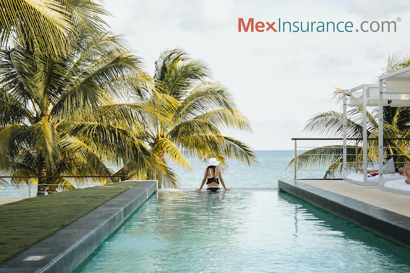 Wellness Destination Mexico - Meditation at Pool Overlooking Ocean