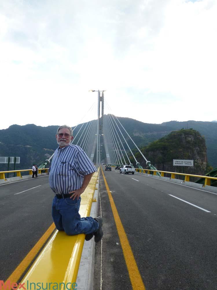 Mike Nelson on the Baluarte bridge - Mazatlan to Durango RV Parks Map of Mazatlan, Sinaloa Mexico, RV Sinaloa Mexico, RV Mexico, RV Map Mexico, Mexico RV Parks Map, Sinaloa Mexico RV Map