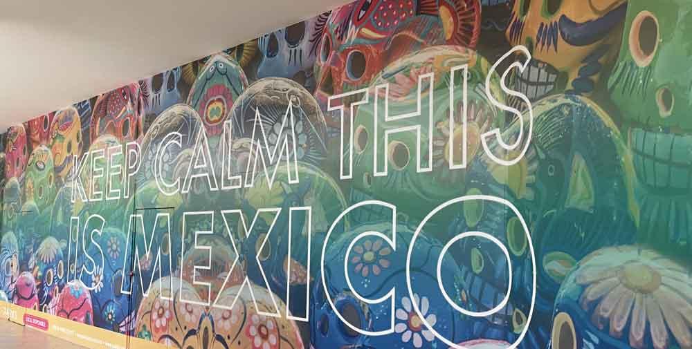 Keep Calm Mexico Wall Mural